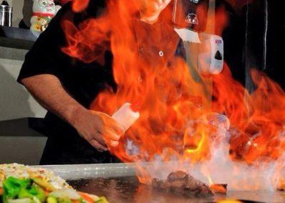 Mark making flames...