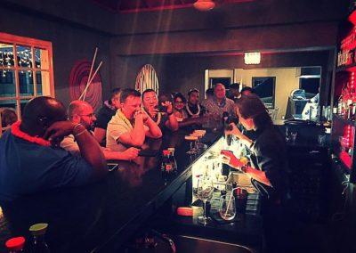 T'kar doing his bartender magic..