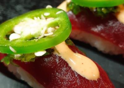 HOT pepper and fresh tuna...